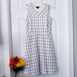 J Crew Sleeveless A-Line windowpane Tweed Dress